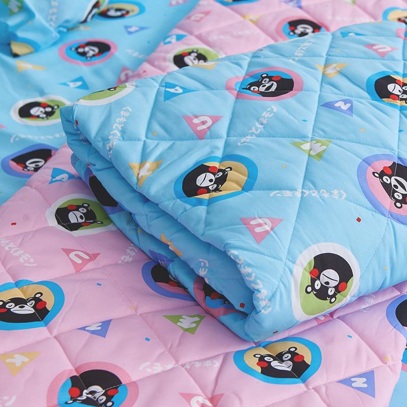 涼被/雙人【熊本熊樂園藍】高密度磨毛布雙人涼被