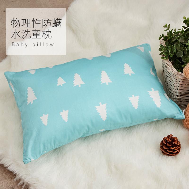 水洗童枕/【防蹣水洗童枕-朵藍森林藍】