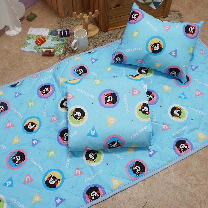 兒童睡墊組/【熊本熊樂園藍-三合一睡墊組】