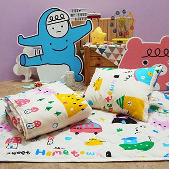 兒童睡墊組/【甜蜜的家-三合一睡墊組】