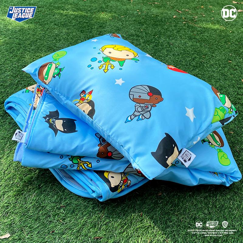 兒童睡墊組/【DC正義聯盟Q版超級英雄藍-三合一睡墊組】
