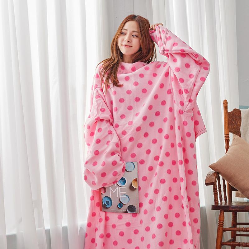 毯子/懶人毯【花樣懶人毯-浪漫點點】100%台灣製高品質懶人毯
