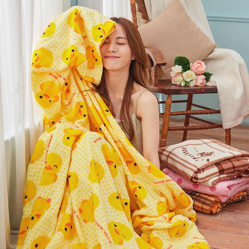 毯子/懶人毯【黃色小鴨懶人毯】100%台灣製高品質懶人毯