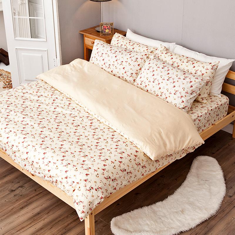 床包被套組/單人【田園童話】100%精梳棉單人床包被套組