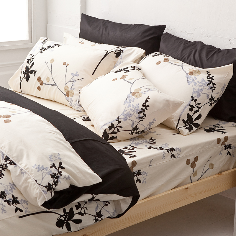 床包被套組/單人【京都物語】100%精梳棉單人床包被套組