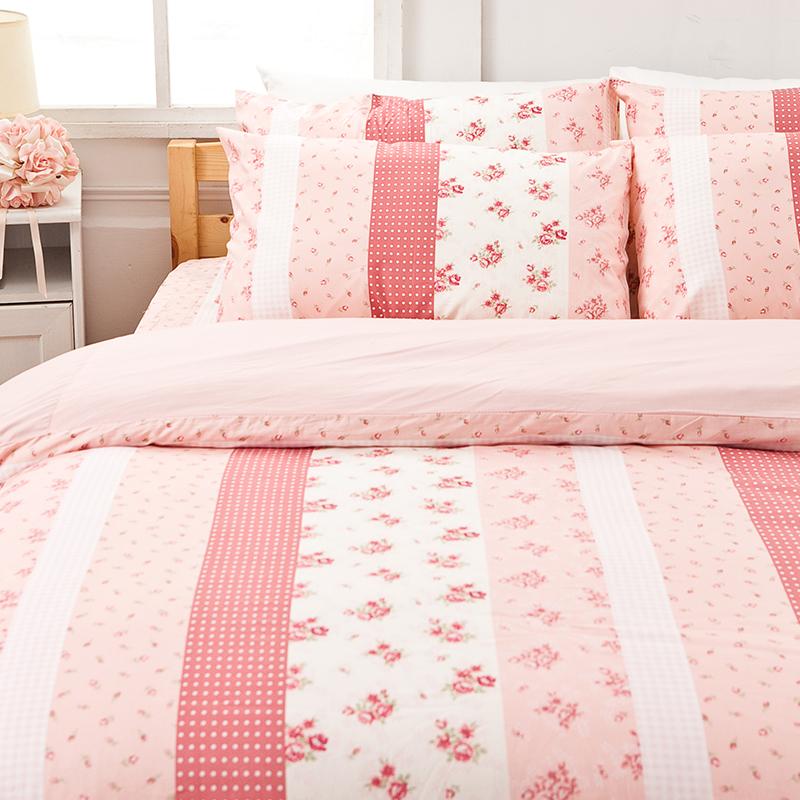 床包被套組/單人【貴族花園】100%精梳棉單人床包被套組