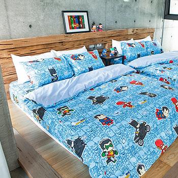 床包被套組/單人【正義曙光】高密度磨毛布單人床包被套組