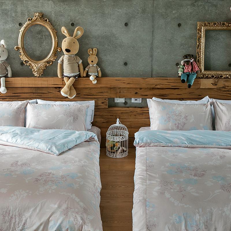 床包被套組/單人【夢遊愛麗絲】100%精梳棉單人床包被套組