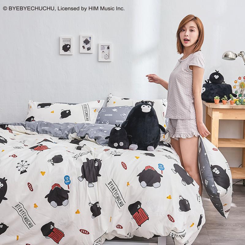 床包被套組/單人【奧樂雞的遊樂園】100%精梳棉單人床包被套組