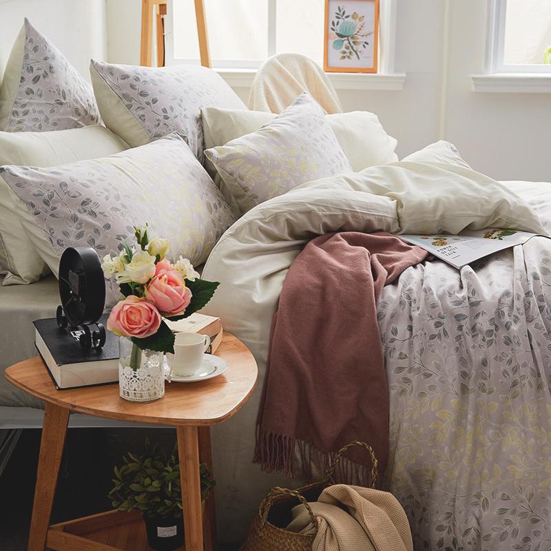 床包被套組/單人【綠憶】40支天絲單人床包被套組
