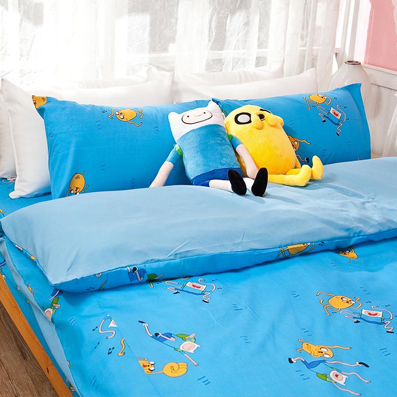 床包被套組/雙人【探險活寶-歌唱篇】高密度磨毛布雙人床包被套組