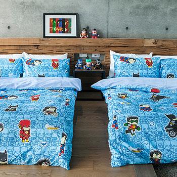 床包被套組/雙人【正義曙光】高密度磨毛布雙人床包被套組