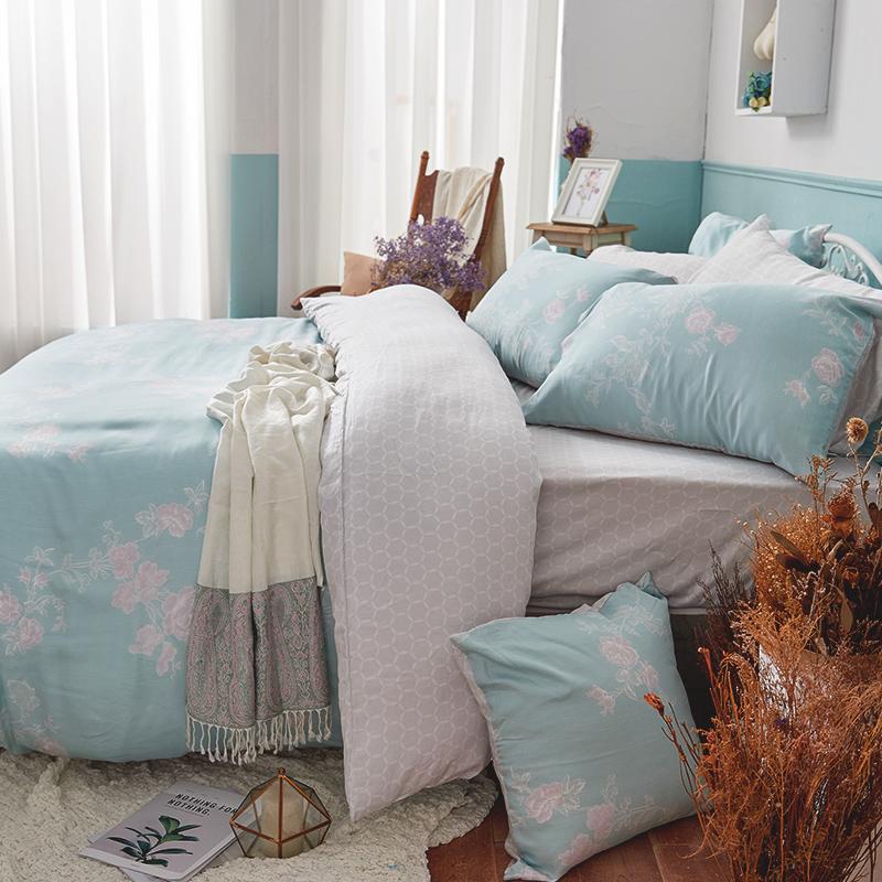 床包被套組/雙人【茉凡蒂】60支天絲雙人床包被套組