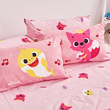 床包被套組/雙人【碰碰狐歡樂唱跳】雙人床包被套組