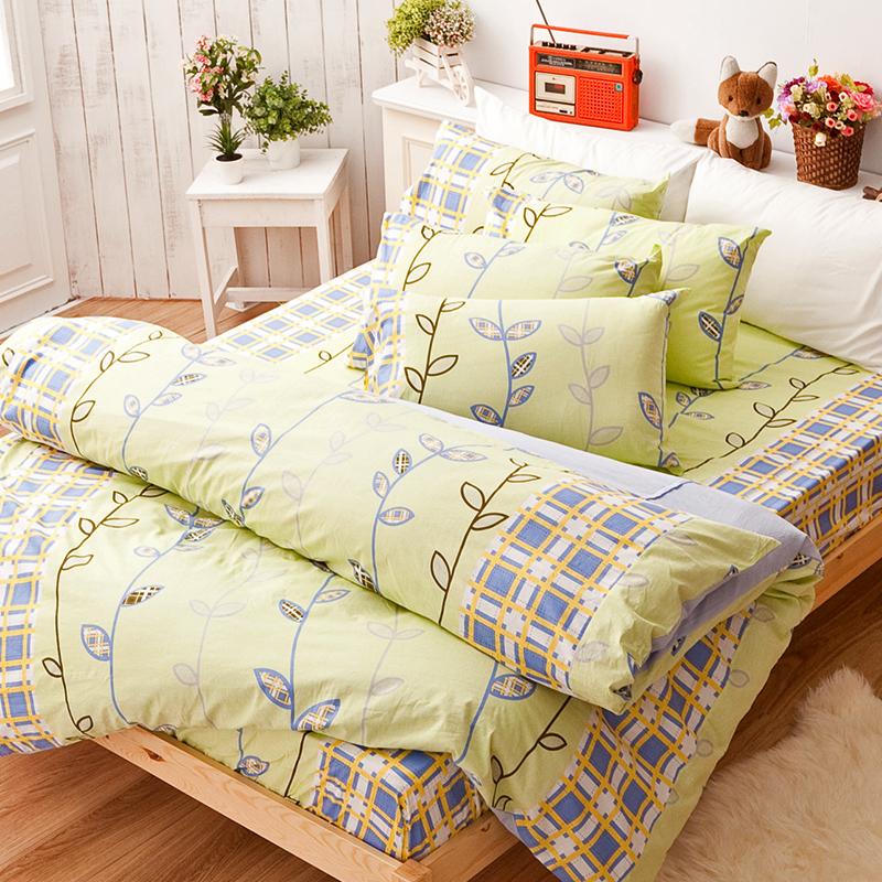 床包被套組/雙人加大【森林童話】100%純棉雙人加大床包被套組