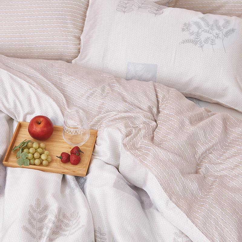床包被套組/雙人加大【光合日晨】40支天絲雙人加大床包被套組