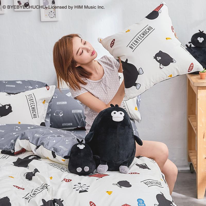 床包被套組/雙人加大【奧樂雞的遊樂園】100%精梳棉雙人加大床包被套組