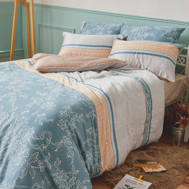 床包兩用被/雙人加大【可莉安】40支天絲雙人加大床包兩用被套組
