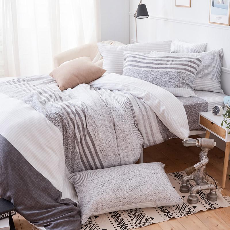 床包被套組/雙人加大【日青】60支天絲雙人加大床包被套組