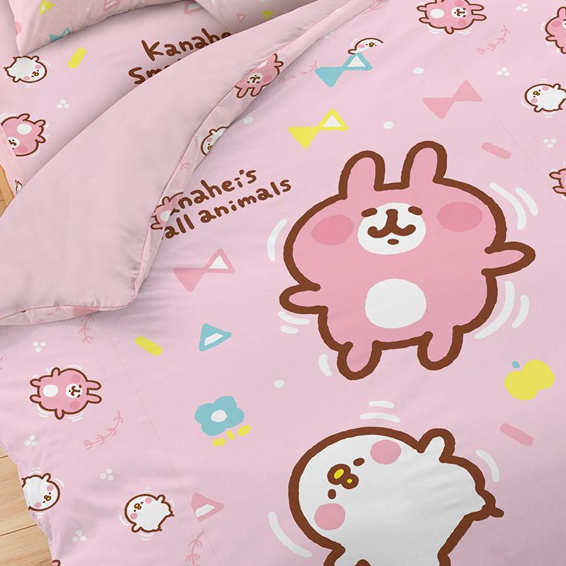 床包被套組/雙人加大【卡娜赫拉的小動物Kanahei好悠游】雙人加大床包被套組