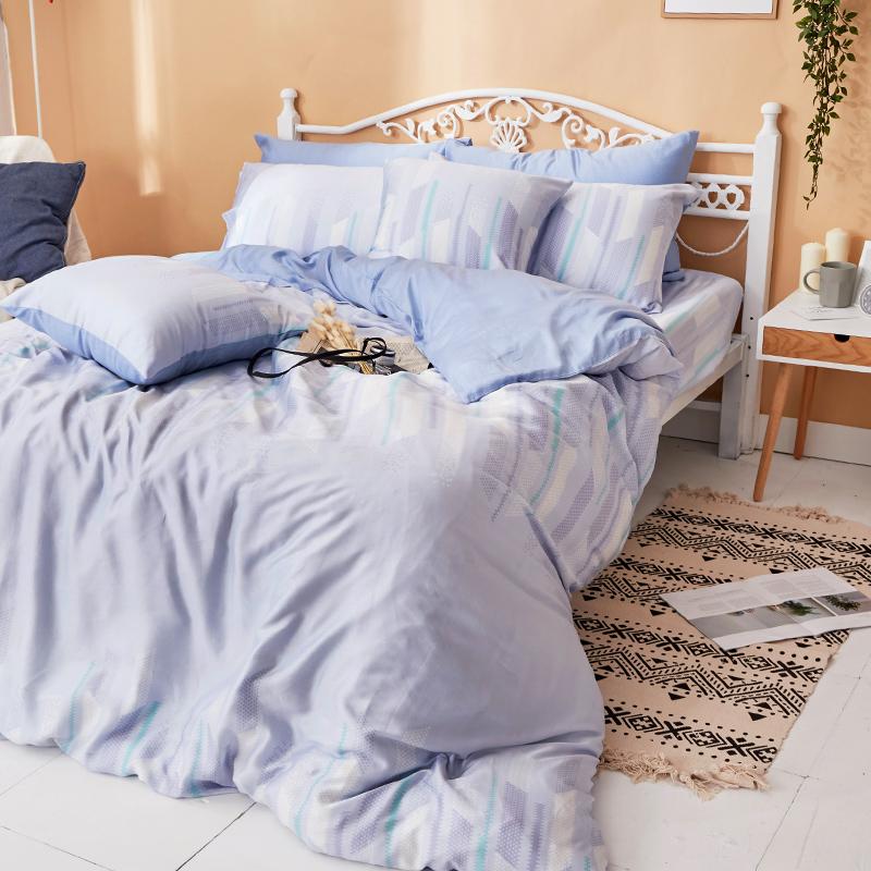 床包被套組/雙人加大【曼響】40支天絲雙人加大床包被套組