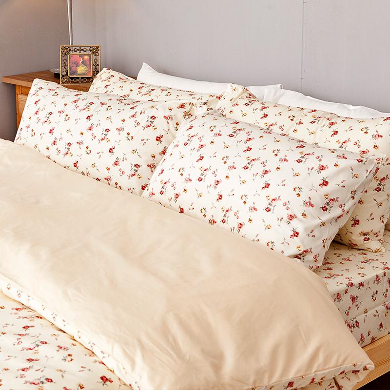 床包被套組/雙人特大【田園童話】100%精梳棉雙人特大床包被套組