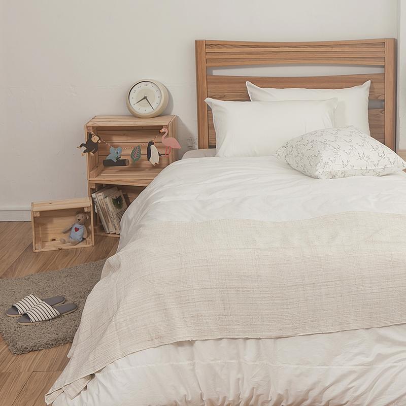 床包被套組/雙人特大【簡單生活系列-白】100%精梳棉雙人特大床包被套組