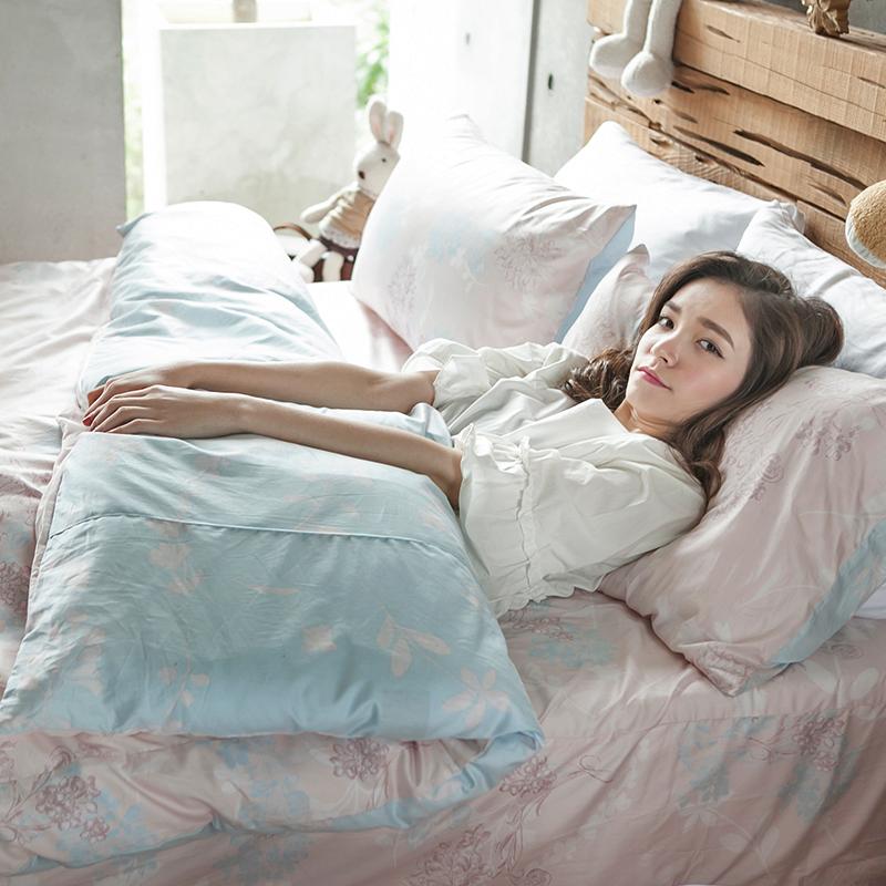 床包被套組/雙人特大【夢遊愛麗絲】100%精梳棉雙人特大床包被套組