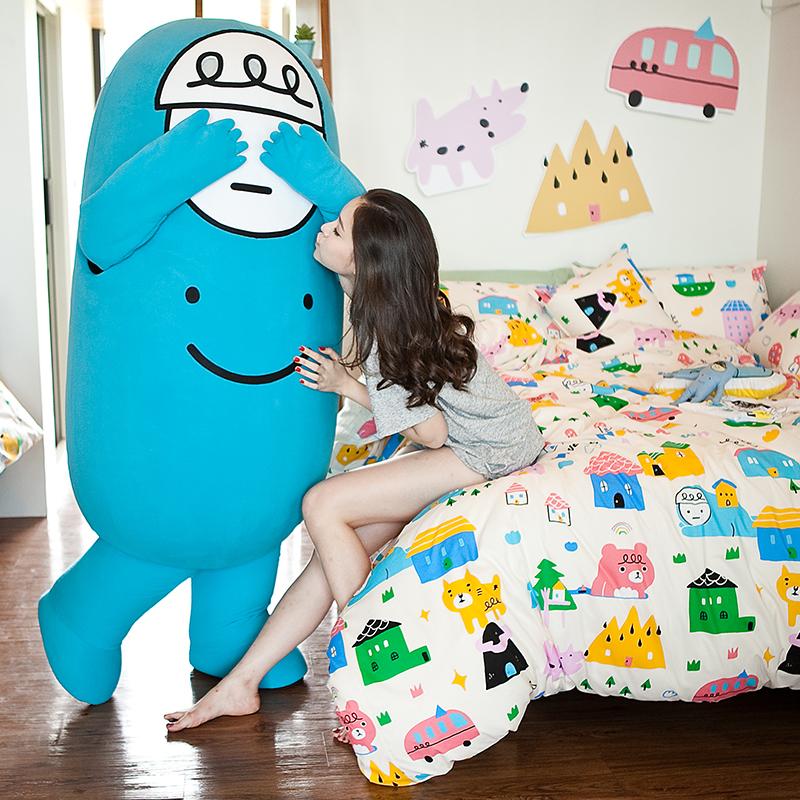 床包兩用被/雙人【Sweethome甜蜜的家】雪紡絲磨毛雙人床包兩用被套組喂,wei聯名款