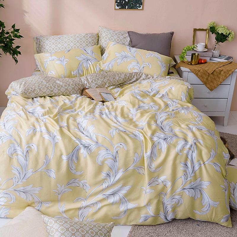 床包兩用被/雙人【覓見微熙】60支天絲雙人床包兩用被套組