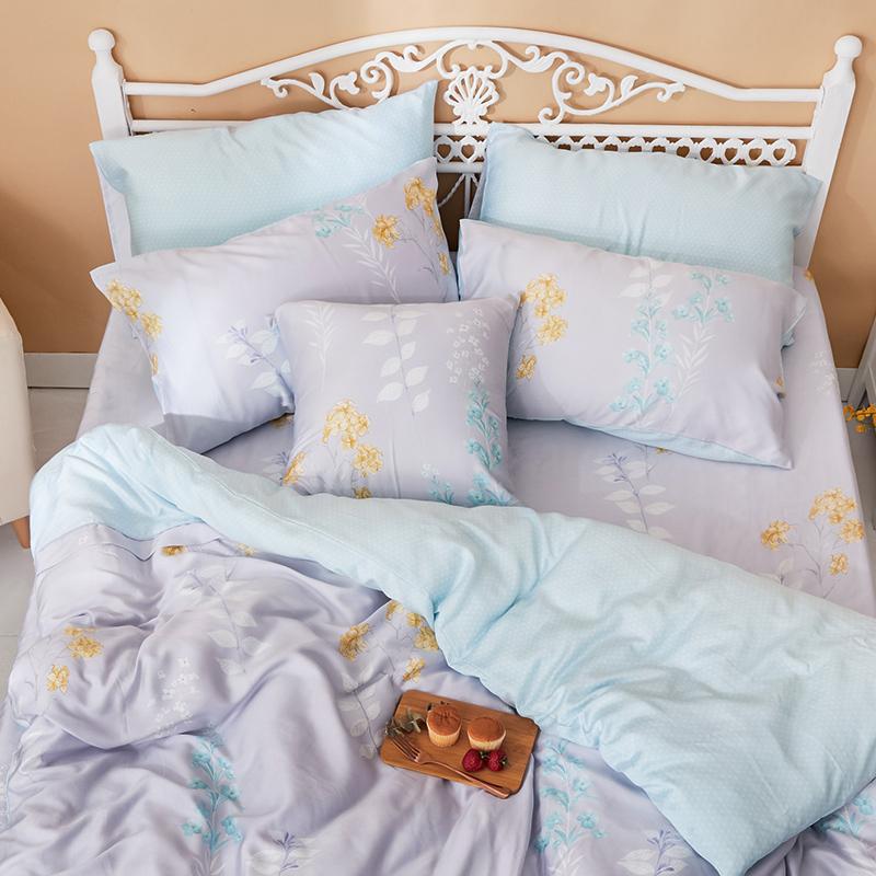 床包兩用被/雙人【珊朵拉】40支天絲雙人床包兩用被套組