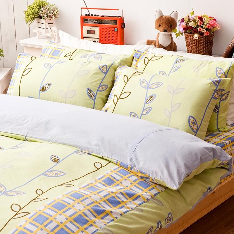 床包兩用被/雙人加大【森林童話】100%純棉雙人加大床包兩用被套組