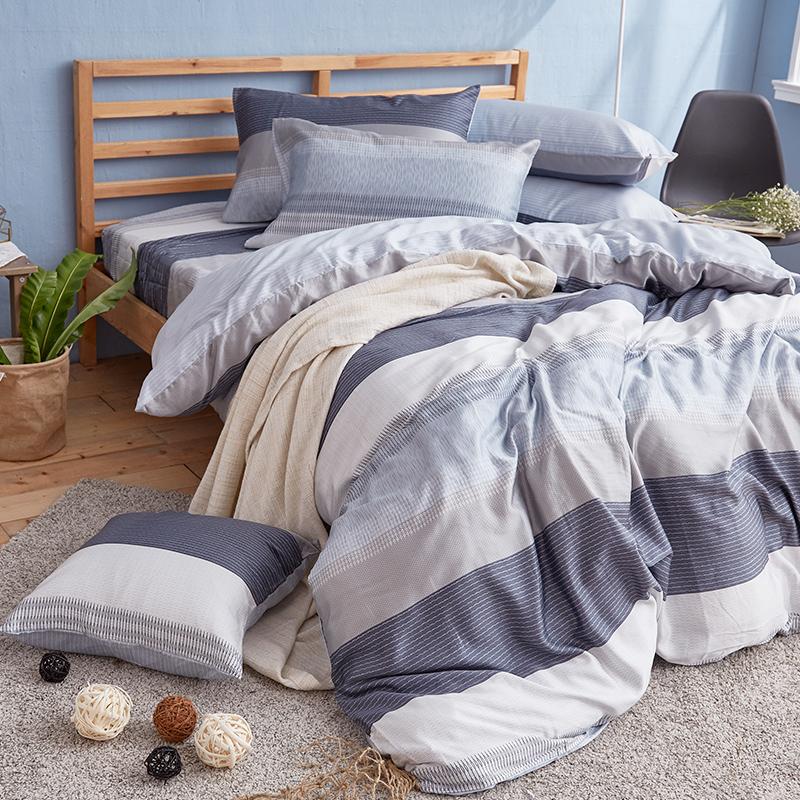 床包兩用被/雙人加大【靛藍旋律】40支天絲雙人加大床包兩用被套組