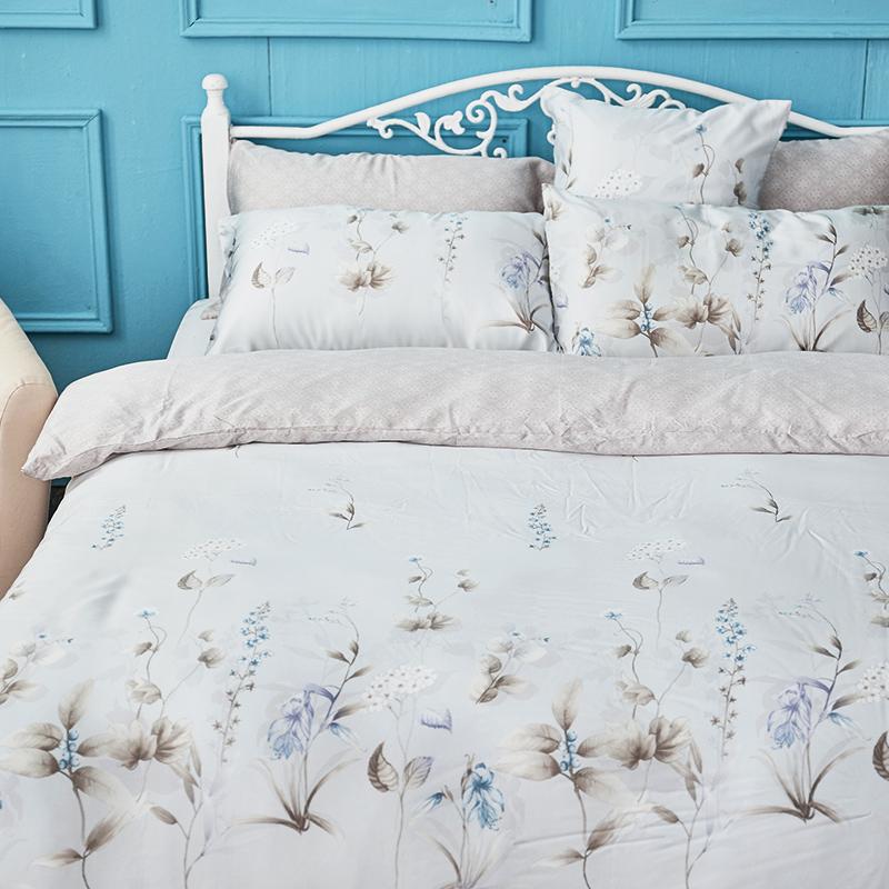 床包兩用被/雙人加大【微月遠蝶】60支天絲雙人加大床包兩用被套組