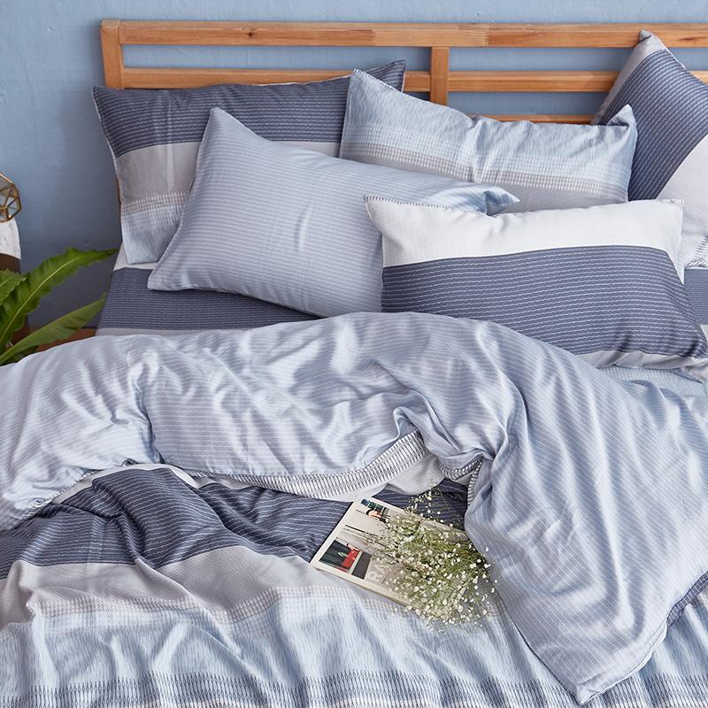 床包兩用被/雙人特大【靛藍旋律】40支天絲雙人特大床包兩用被套組