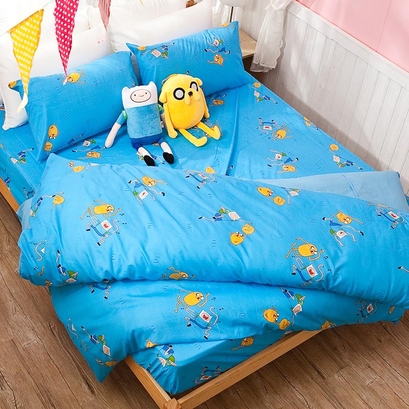 床包涼被組/雙人【探險活寶-歌唱篇】高密度磨毛布雙人床包涼被組