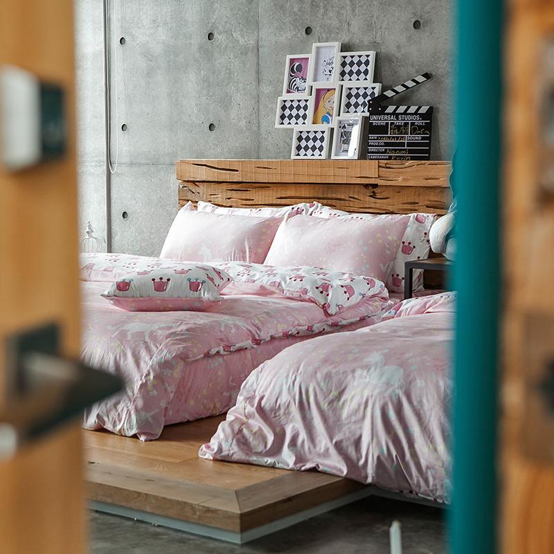 床包涼被組/雙人【尋找夢奇地粉】100%精梳棉雙人床包涼被組