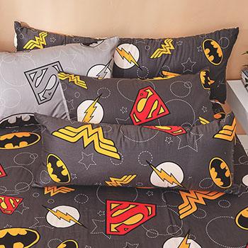 床包涼被組/雙人【DC正義聯盟】100%精梳棉雙人床包涼被組