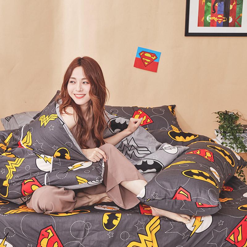 床包涼被組/雙人加大【DC正義聯盟】100%精梳棉雙人加大床包涼被組