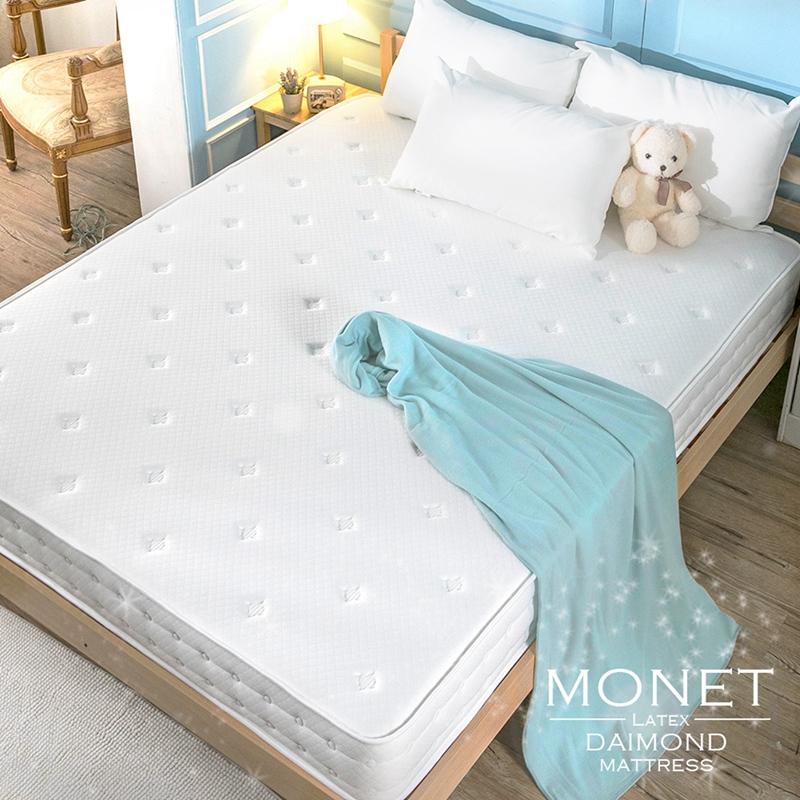 獨立筒床墊/雙人加大【MONET二線獨立筒無毒床墊】6尺